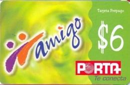ECUADOR : POP088E $6 Amigo Green/rev=poligrafica USED - Ecuador