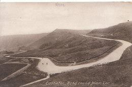 Derbyshire Postcard - Castleton - Road Round Mam Tor - Ref ND905 - Derbyshire