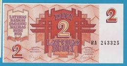 LATVIA 2 RUBLE 1992 Serial# RA243325 P# 36 - Latvia