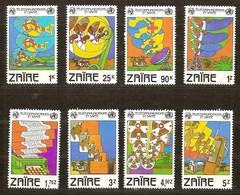Zaire 1982 Yvertn°  1125-1132  *** MNH Cote 6,00 Euro Télécommunications - Zaïre