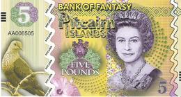 Pitcairn Islands - 5 Pounds 2018 - Unc - Fantasy Banknote - Private Issue - Not A Legal Tender - Billetes