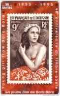 POLFRANC : FPY037 30 STAMP La Jeune Fille De Bora-Bora USED - French Polynesia