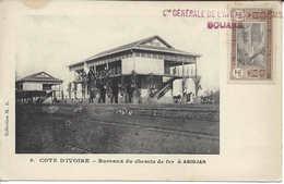 N° 6 Bureaux Du Chemin De Fer à Abidjan, CÔTE D'IVOIRE, Carte Postale Non Circulée - Ivory Coast