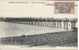 13 GRAND-BASSAM, La Passerelle Sur La Lagune, CÔTE D'IVOIRE, Carte Postale Non Circulée - Ivory Coast
