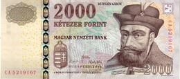 Hungary P.198c  2000 Forint  2010 Unc - Hungary