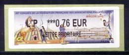 """LISA 2  0,76e TARIF LETTRE PRIORITAIRE SALON PHILA FRANCE MACON 2015 """" Championnat De France De Philatélie NEUF ** - 2010-... Geïllustreerde Frankeervignetten"""