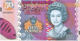 Pitcairn Islands - 50 Pounds 2018 - Unc - Fantasy Banknote - Private Issue - Not A Legal Tender - Billets