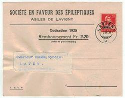 Suisse // Schweiz // Switzerland  // 1907-1939 // Carte Commerciale Au Départ De Lavigny Le 07.03.1925 - Briefe U. Dokumente