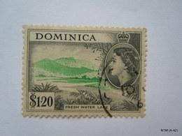 DOMINICA 1951, Queen Elizabeth II, Fresh Water Lake, $1.20. SG 157, SC 155, Used. - Dominica (...-1978)