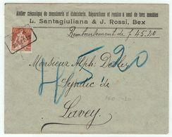 Suisse // Schweiz // Switzerland  // 1907-1939 // Lettre  Au Départ De Bex Le 25.09.1922 Cachet Spécial - Svizzera