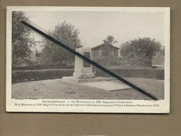 CPA - Estrées Deniécourt - Le Monument Au 329e Régiment D'Infanterie ...etc... - France
