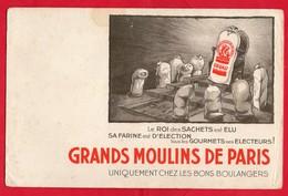 -- GRANDS MOULINS DE PARIS -UNIQUEMENT CHEZ LES BONS BOULANGERS -- - Buvards, Protège-cahiers Illustrés