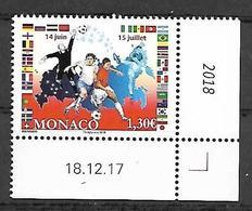 Monaco 2018 -  Yv N° 3135 ** - Coupe Du Monde De Football En Russie - Monaco