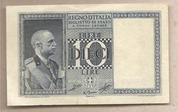"""Italia - Banconota Non Circolata SUP Da 10 Lire """"Impero"""" P-25c.1- 1939 - [ 1] …-1946 : Kingdom"""
