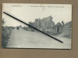CPA Très Très Souple - Foucaucourt -(Somme ) - L'église Et La Route D'Amiens - France