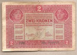 AustriaUngheria - Banconota Circolata Da 2 Corone P-21a.1 - 1917 - Austria