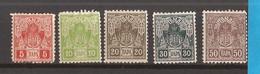 1918 11 I -- 15 1PORTO SERBIEN SRBIJA SERBIA  HINGED - Serbia