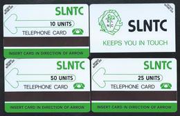 SIERRA LEONE 3 Shiny PVC First Test Card SLNTC 10+25+50 Verso Bande Noire 1000ex MINT URMET - Sierra Leone