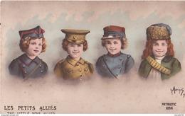 Rare Cpa Les Petits Alliés - Guerra 1914-18