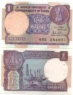 India - 1 Rupee UNC Pick 78a W/holes Lemberg-Zp - India