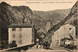 Alpi Marittime - Strada Da Ventimiglia A Breil Dogana Italiana - Other Cities