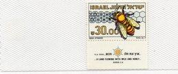 1983   ABEILLES      N°  863        NEUF    TAB    COTE    5,00  EURO - Israel