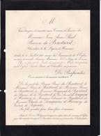 SAINT-LEONARD De LOUPLANDE Sarthe Flavie Comtesse DESPINOY 1889 Décédée à Paris Famille De VERGENNES De FAVIERES D'AUX - Avvisi Di Necrologio