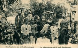 Catéchiste De L'Inde Et Sa Famille  Kumbakoam - India