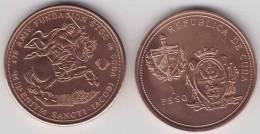 1993-MN-102 CUBA 1$ 1993 SANTIAGO DE CUBA FOUNDATION ANIV. SANTIAGO APOSTOL. HORSE UNC. CO - Cuba