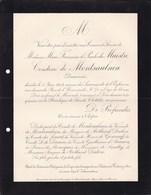 Château De FONTENAY CHER Marie-Françoise De MAISTRE Comtesse De MONTSAULNIN 88 Ans 1904 Morte Paris - Avvisi Di Necrologio
