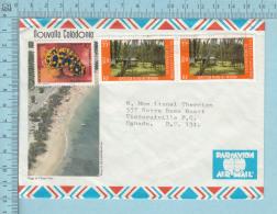 Nouvelle Caledonie 1990 , Par Avion, Arriere Plage De L'anse Vata, Timbre  2 X #538 + 1 X 632, Lettre - Nouvelle-Calédonie