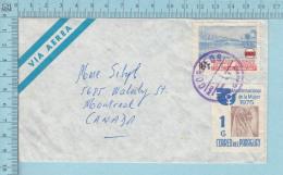 Paraguay - Via Aereo , Pink Killer, Letter Send To Canada, I.S.E, - Paraguay