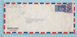 Costa Rica -  1949 Air Mail Letter Send To Canada - Costa Rica