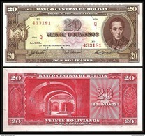 Bolivia 20 BOLIVIANOS 20.12.1945 P 140 UNC BOLIVIE,  BOLIVIEN - Bolivie