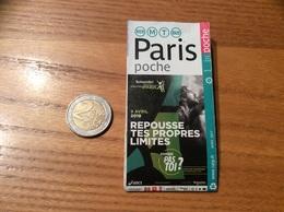 Plan PARIS Poche * - MÉTRO AUTOBUS RER - Spécial Marathon De Paris 2018 - Europe