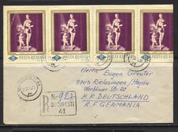Romina, Rumänien, 1974,  Bukarest To Rielasingen,  Germany - Cartas