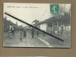 CPA Abîmée - Hébécourt  -  (Somme ) - La Mairie  - Route De Paris - France