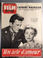 Mon Le Film Complet Un Acte D'amour Kirk Douglas Dany Robin 4eme De Couv Jean Claude Pascal Gina Lollobrigida - Journaux - Quotidiens