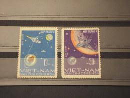 VIETMAN NORD - 1966 LUNA IX  2 VALORI - NUOVI(++) - Vietnam
