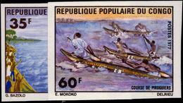 Congo Brazzaville 1977 Pirogue Racing Imperf Unmounted Mint. - Congo - Brazzaville