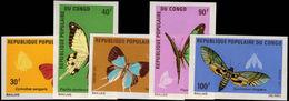Congo Brazzaville 1971 Butterflies Imperf Unmounted Mint. - Congo - Brazzaville