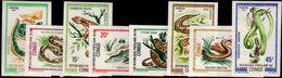 Congo Brazzaville 1971 Reptiles Imperf Unmounted Mint. - Congo - Brazzaville