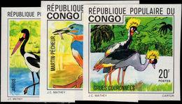 Congo Brazzaville 1976 Birds Imperf Unmounted Mint. - Congo - Brazzaville