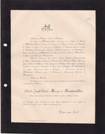 AIRELLES La GRANDE-VERRIERE Charles Marquis De MONTMORILLON 69 Ans 1900 Commandant Mobiles Siège De Paris 1870 - Avvisi Di Necrologio