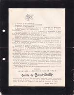 IEPER COLOMBO Ile De CEYLAN Léon Comte De BOURDEILLE 39 Ans 1903 De CONINCK De MERCKEM De HENNIN - Avvisi Di Necrologio