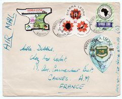 SIERRA LEONE - AIR MAIL COVER TO FRANCE 1970 / THEMATIC STAMPS-PORT / SCOUTING / EXPO '70 - Sierra Leone (1961-...)