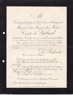 Château De CAILA Gironde Louis Comte De GALARD 77 Ans 1904 Famille D'ARENBERG De BROGLIE De SEGUR GREFFULHE - Avvisi Di Necrologio
