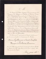 ANGERS Adrienne GUILLEMEAU De SAINT-SOUPLET Marquise Douairière De TILIERE 78 Ans 1899 Famille De SESMAISONS - Avvisi Di Necrologio
