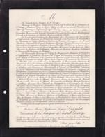 PARIS Marie Stéphanie GRANDET Vicomtesse De La SAIGNE De SAINT GEORGE 57 Ans 1907 Famille HAY De SLADE - Avvisi Di Necrologio