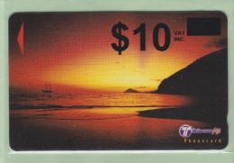 """Fiji - 2000 Dawn & Dusk - $10 Overprint (on $5 Error) - """"32FJD"""" - FIJ-167 - Mint - Fiji"""